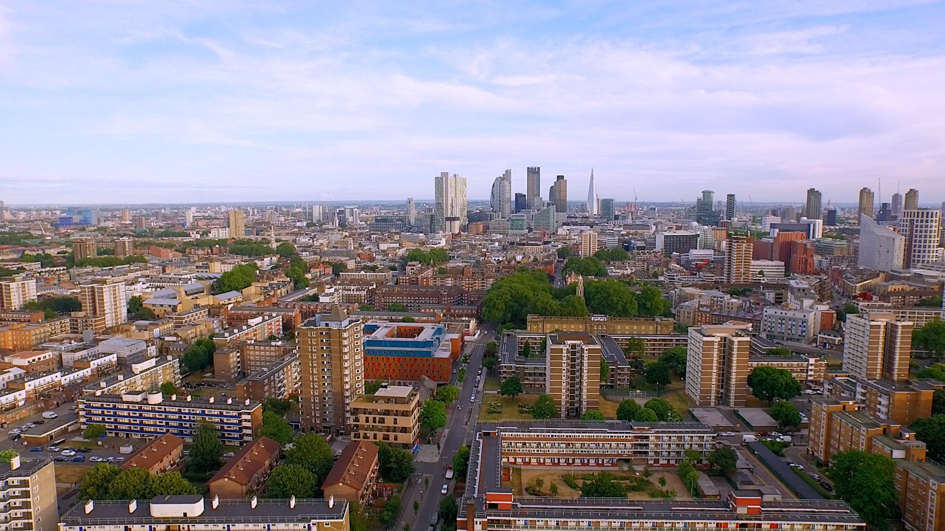 Hackney  london skyline