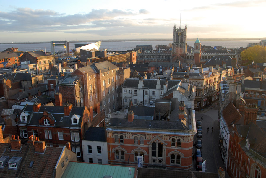 Hull city skyline